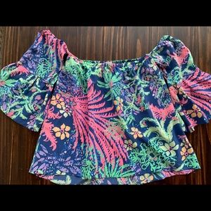 Lilly Pulitzer off-shoulders blouse